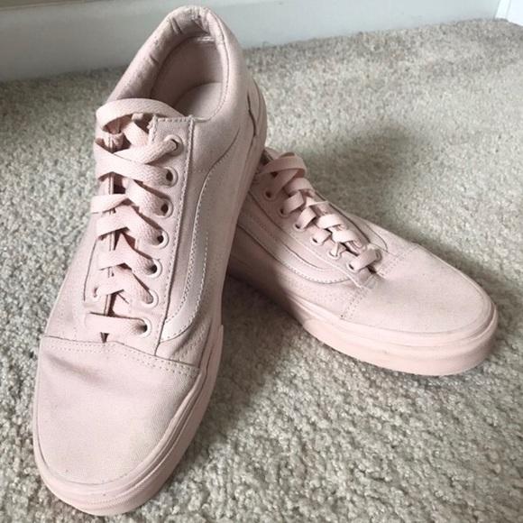 Pale pink old skool vans